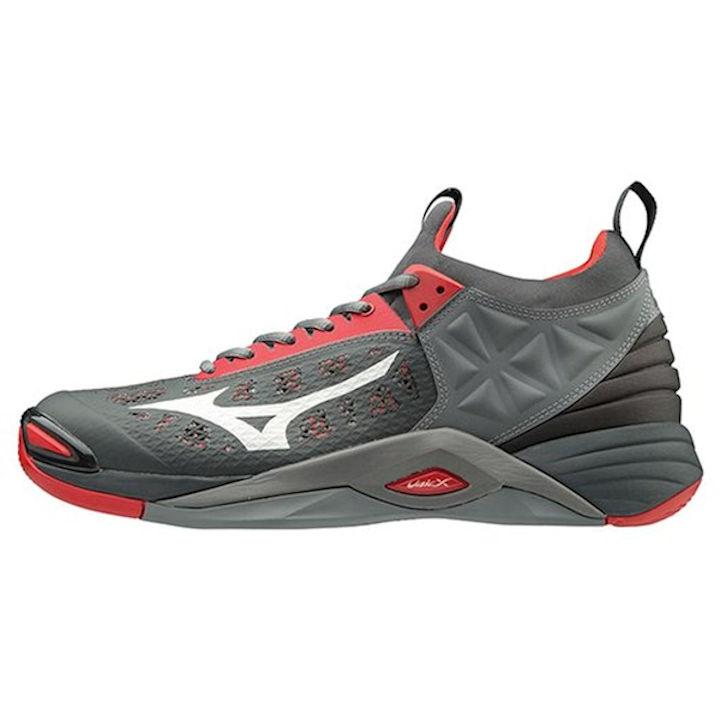 Mizuno Wave Momentum Men's Shoe (High Risk Red/Grey) (430261.1G91)