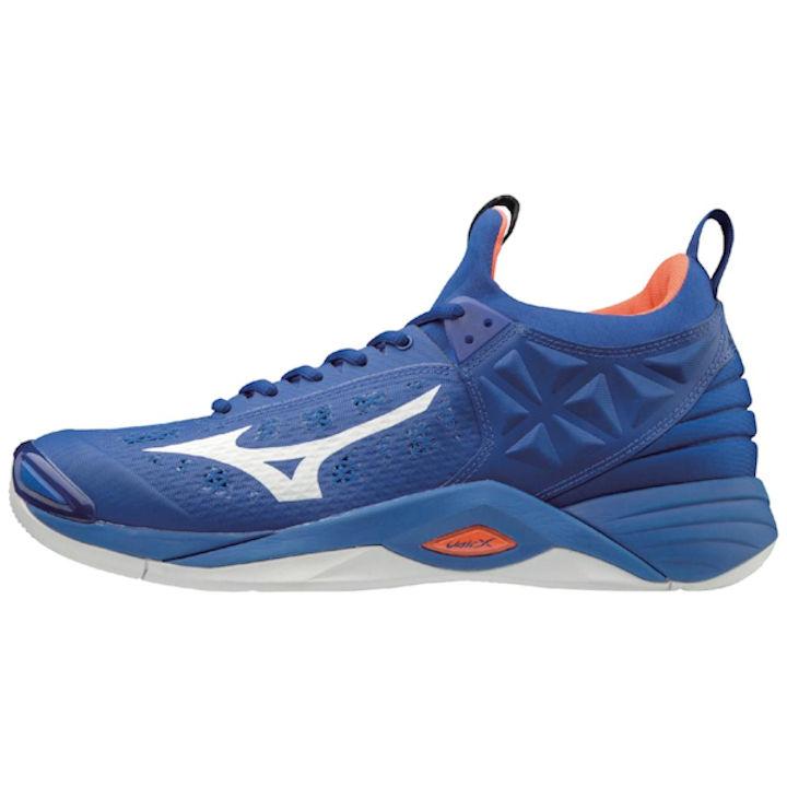 Mizuno Men's Wave Momentum Indoor Shoes (Royal/Orange) (430261.5220)
