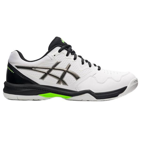 ASICS Gel-Dedicate 7 Men's Outdoor Shoe (White/GunMetal) (1041A223.101)
