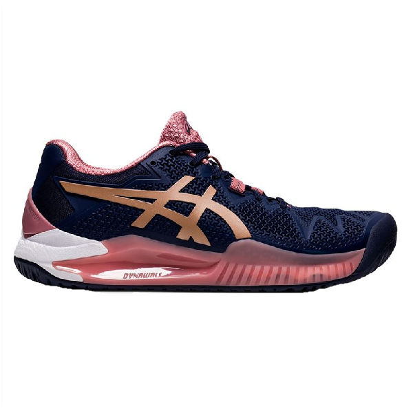 ASICS Gel-Resolution 8 Women's OUTDOOR Shoes (Peacoat/Rose Gold) (1042A072.404)