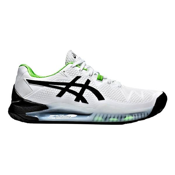 ASICS Gel-Resolution 8 Men's OUTDOOR Shoe (White/Green Gecko) (1041A079.105)