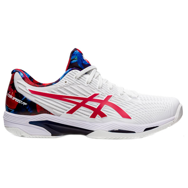 ASICS Solution Speed FF 2 Men's OUTDOOR Shoe (White/Classic Red) (1041A286.110)