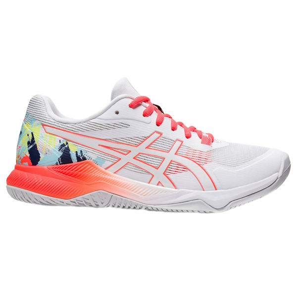 ASICS Gel-Tactic Women's Indoor Shoe (White/Sunrise Red) (1072A076.960)