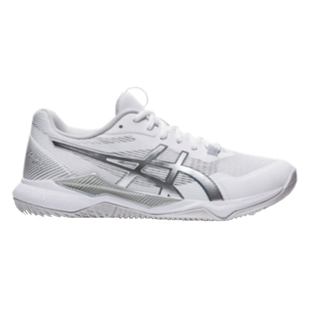 ASICS Gel-Tactic Women's Indoor Shoe (White/Pure Silver) (1072A070.101)