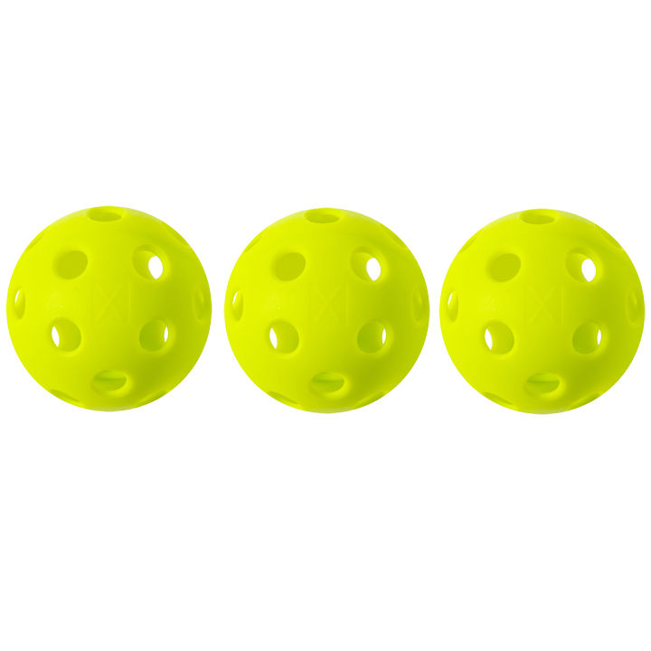 Franklin X-26 Indoor Yellow Pickleball 3 Pack