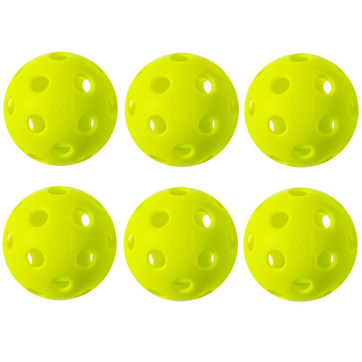 Franklin X-26 Indoor Yellow Pickleball 6 Pack
