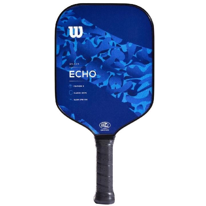 Wilson Echo Camo Blue Pickleball Paddle (WR098011)