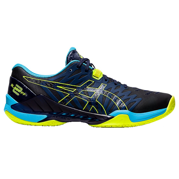 ASICS Blast FF 2 Men's Indoor Shoe (Peacoat/Safety Yellow)) (1071A044.400)