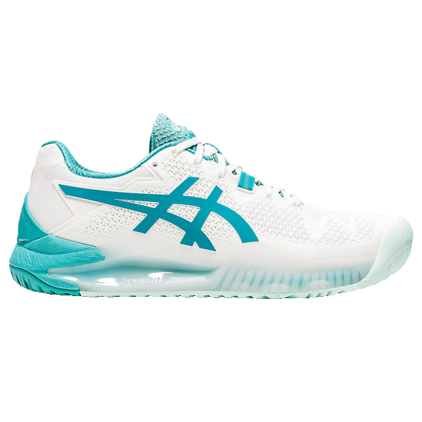ASICS Gel-Resolution 8 Women's OUTDOOR Shoes (White/Lagoon) (1042A072.106)