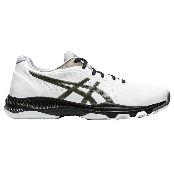 ASICS NetBurner Ballistic FF 2 Men's INDOOR Shoe (White/GunMetal) (1051A041.100)