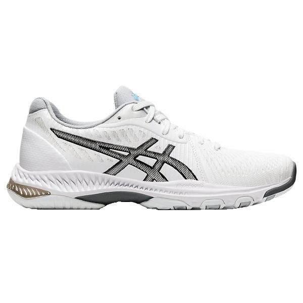 ASICS NetBurner Ballistic FF 2 Women's INDOOR Shoe (White/Black) (1052A033.100)