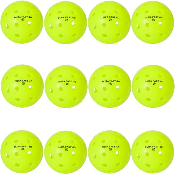 Dura Fast 40 Outdoor Neon Green Pickleballs Dozen