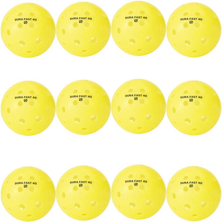Dura Fast 40 Outdoor Yellow Pickleballs Dozen