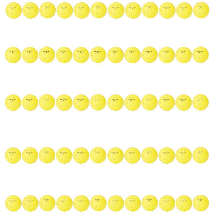 Dura Fast 40 Outdoor Yellow Pickleballs 5 Dozen