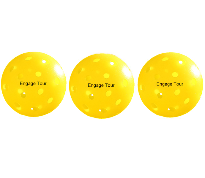 Engage Tour Yellow Pickleballs 3 Pack