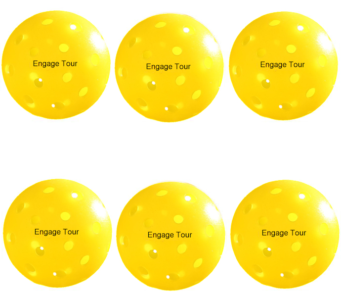 Engage Tour Yellow Pickleballs 6 Pack