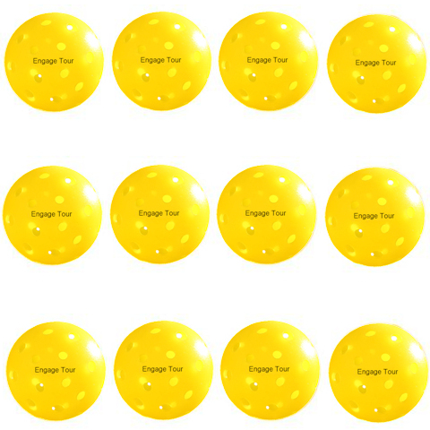 Engage Tour Yellow Pickleballs Dozen