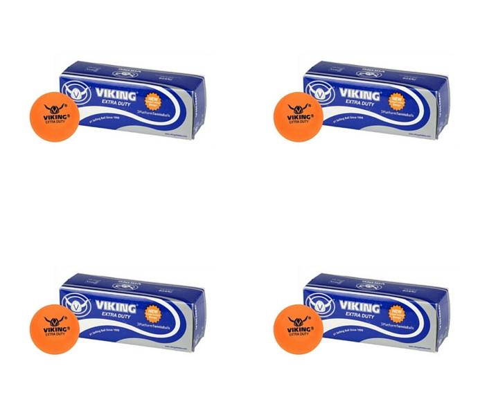 Viking Extra Duty Orange Platform Tennis Balls (4 Sleeves)