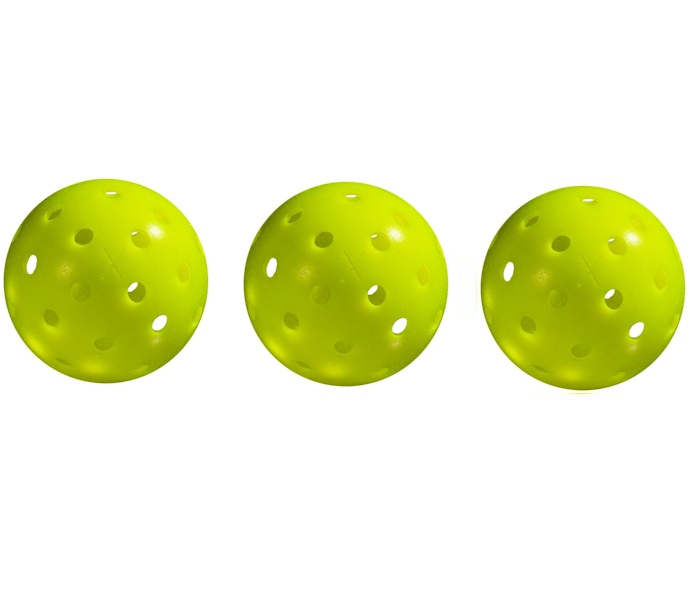 Franklin X-40 Outdoor Yellow Pickleball 3 Pack