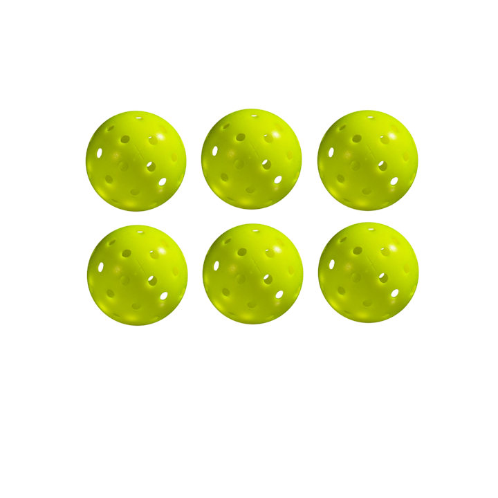 Franklin X-40 Outdoor Yellow Pickleball 6 Pack
