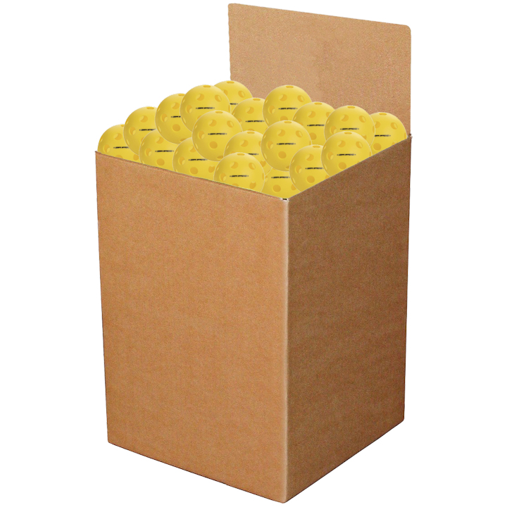 Onix Fuse Indoor Yellow Pickleball Box of 100