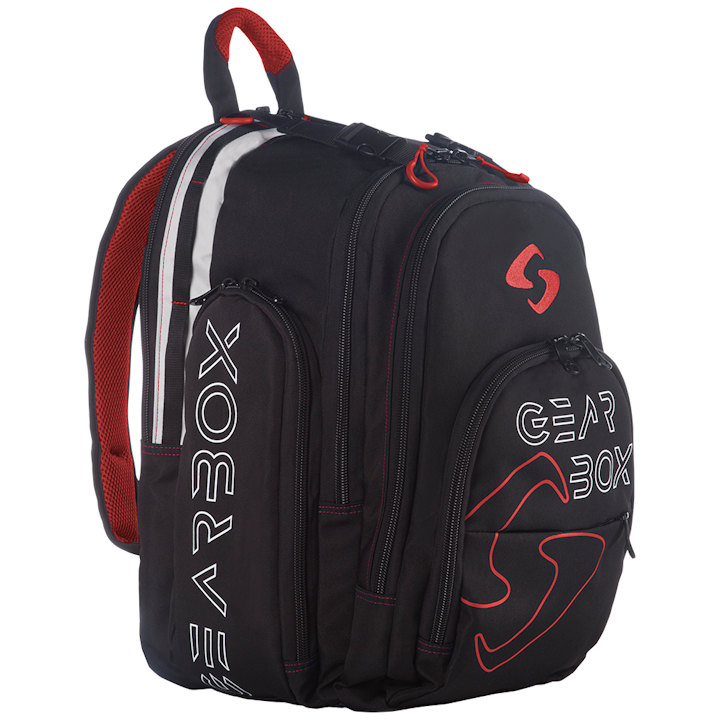 GearBox Black/Red Backpack Bag