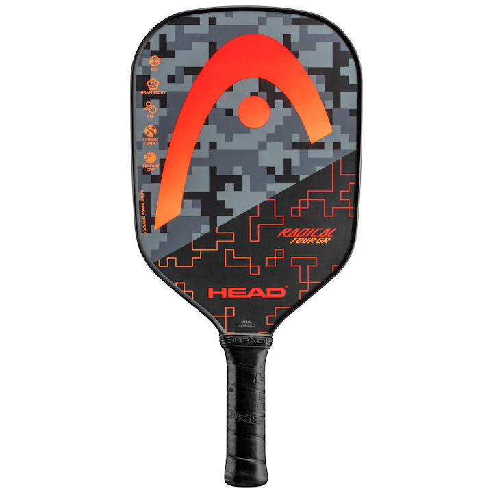 Head Radical Tour GR (Red) Pickleball Paddle (226110)