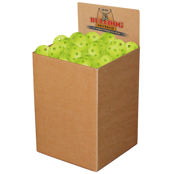 Jugs Lime Green Pickleball Box of 100