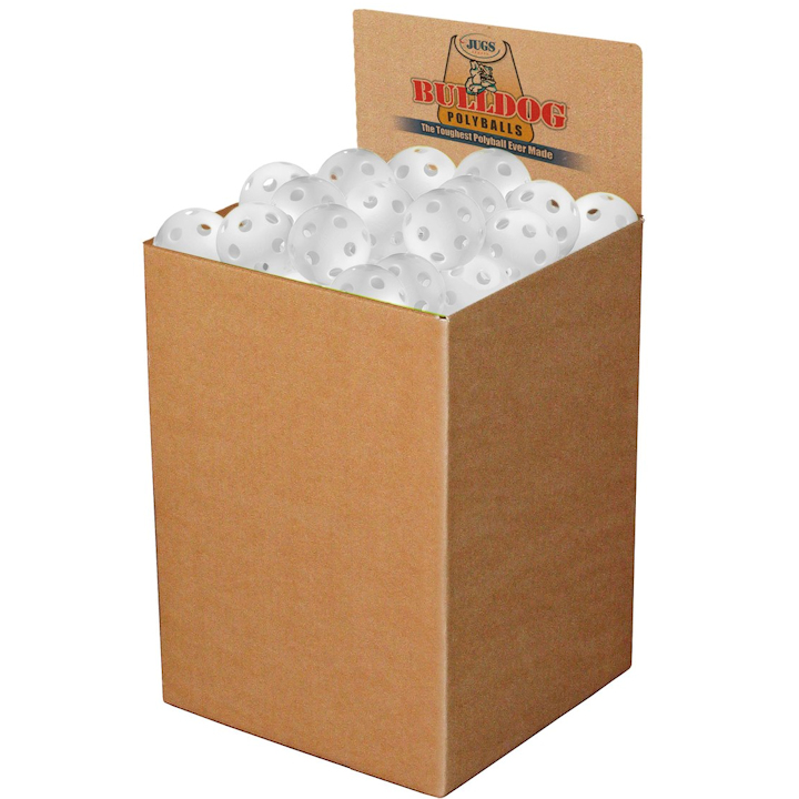Jugs White Pickleball Box of 100