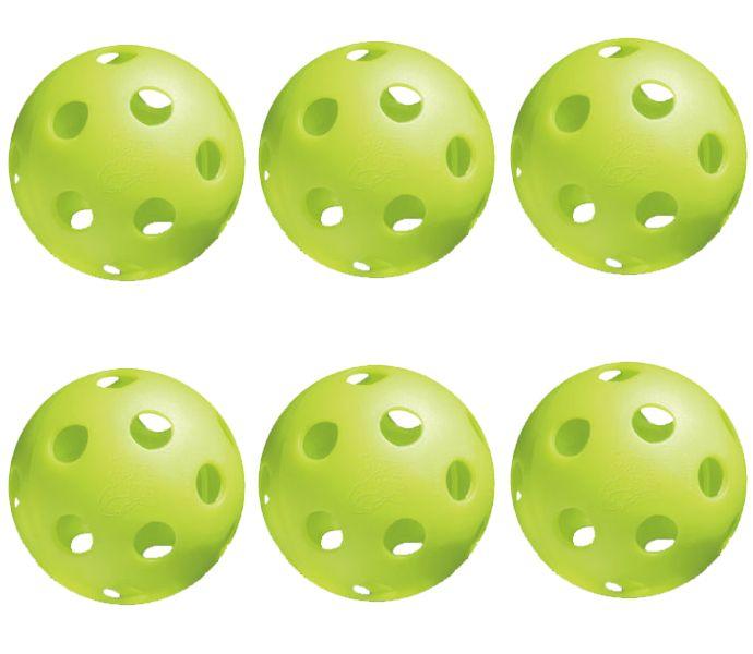 Jugs Bulldog Lime Green Pickleball 6 Pack