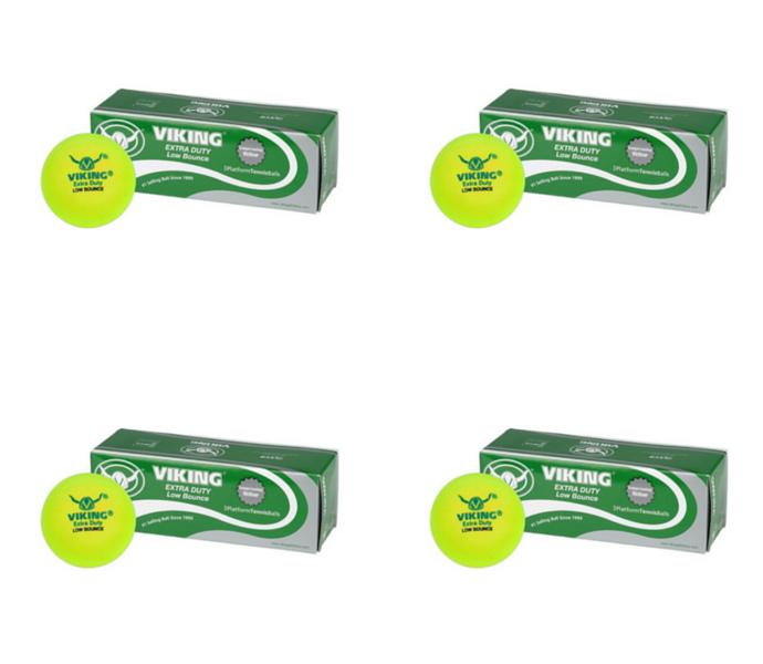 Viking Low Bounce Platform Tennis Balls (4 Sleeves)