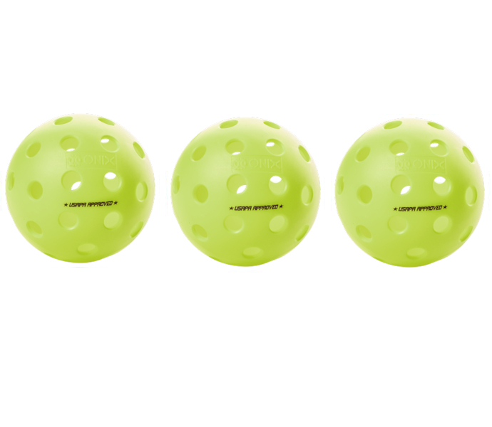 Onix Fuse G2 Outdoor Neon Green Pickleball 3 Pack