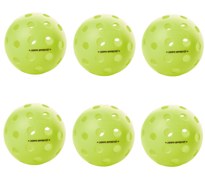 Onix Fuse G2 Outdoor Neon Green Pickleball 6 Pack