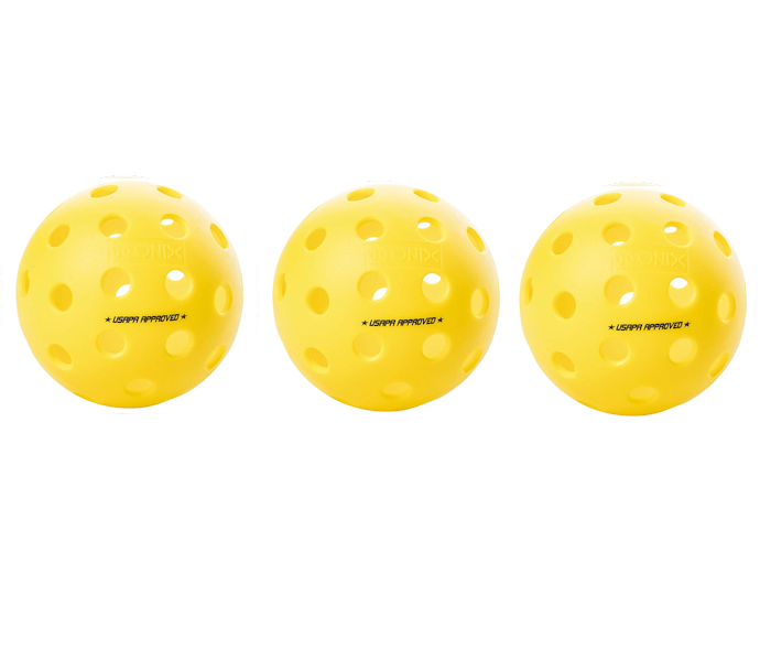 Onix Fuse G2 Outdoor Yellow Pickleball 3 Pack
