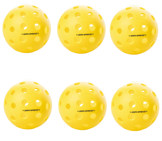 Onix Fuse G2 Outdoor Yellow Pickleball 6 Pack