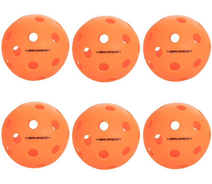 Onix Fuse Indoor Orange Pickleball 6 Pack