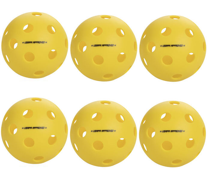 Onix Fuse Indoor Yellow Pickleball 6 Pack