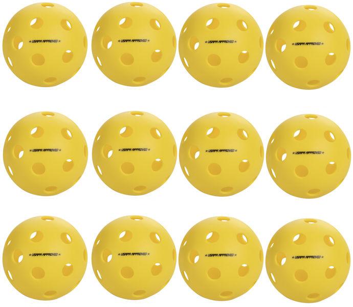 Onix Fuse Indoor Yellow Pickleball Dozen