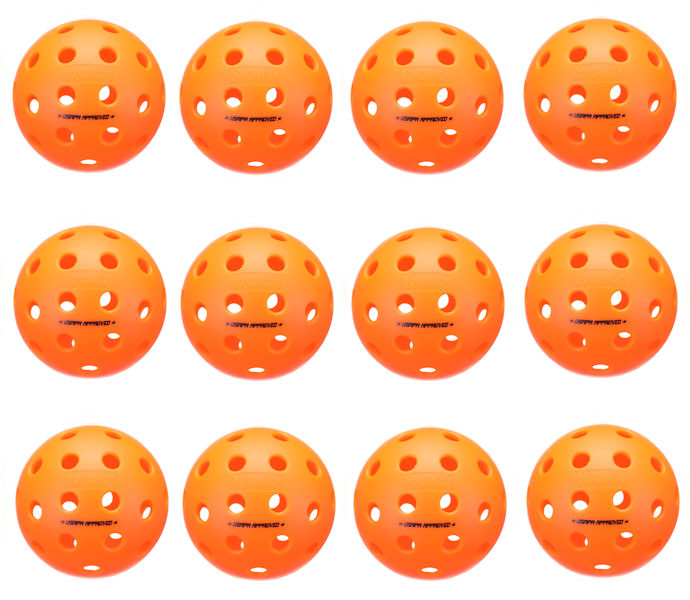Onix Fuse Outdoor Orange Pickleball Dozen