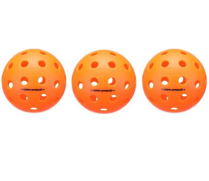 Onix Fuse Outdoor Orange Pickleball 3 Pack