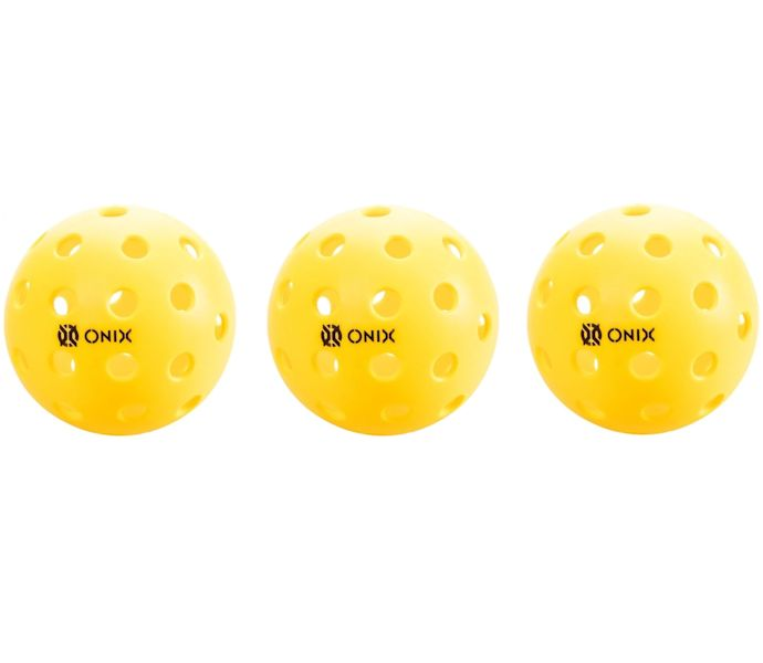 Onix Pure 2 Outdoor Yellow Pickleball 3 Pack