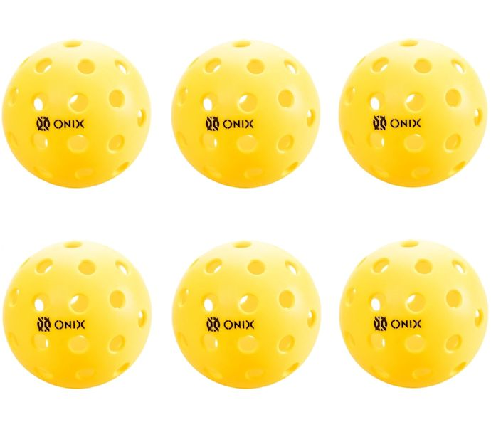 Onix Pure 2 Outdoor Yellow Pickleball 6 Pack