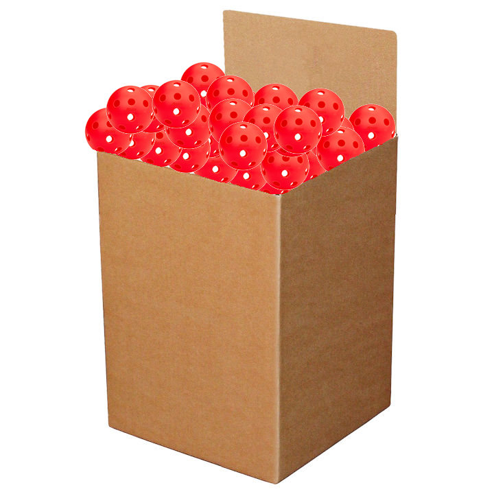 Penn 26 Indoor Lava Red Pickleball (Box of 100)