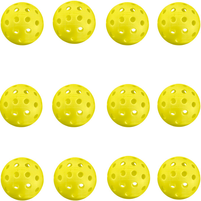 Penn 40 Outdoor Yellow Pickleball (12 Pack)