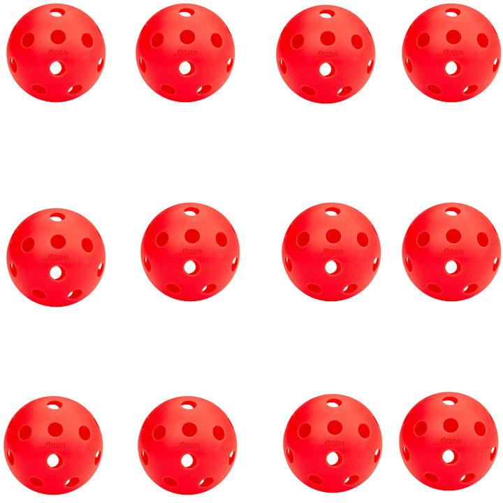 Penn 26 Indoor Lava Red Pickleball (12 Pack)