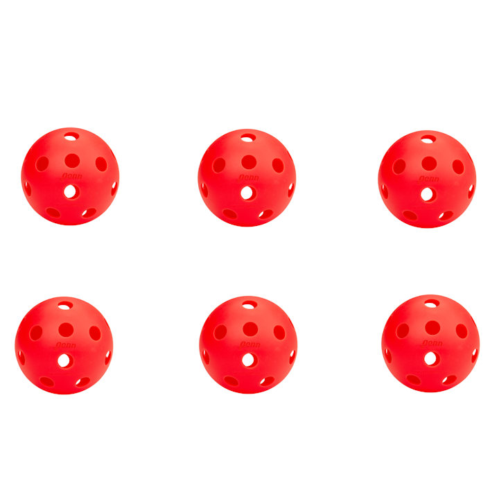 Penn 26 Indoor Lava Red Pickleball (6 Pack)