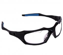 962a077933a Python Full Frame Black w Clear Lens Eyewear