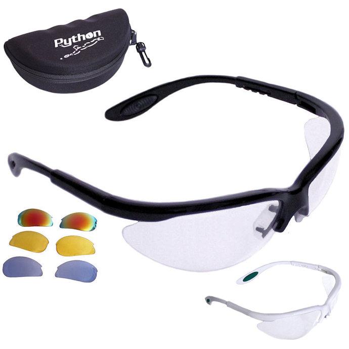 Python RG Multi Lens Frame Eyewear w/Protective Case