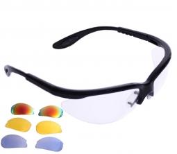 b3bdab5b5b Python RG Multi Lens Black Frame Eyewear w Protective Case