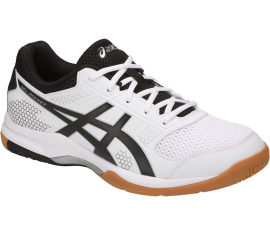 e8eb3ac5b189b5 ASICS Men s Gel-Rocket 8 (B706Y.0190) (White Black)  PaddleballGalaxy
